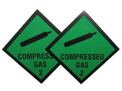 Green Compressed Gas Stickers for Car/Vehicle