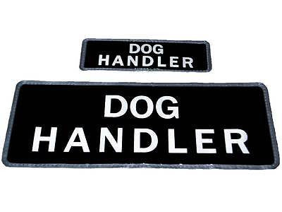 Black DOG HANDLER Reflective Badges