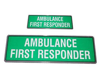 AMBULANCE FIRST RESPONDER Reflective Badges