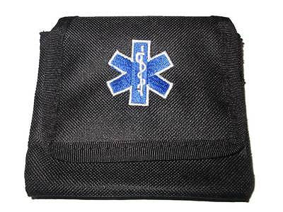 Embroidered Star of Life Glove Pouches (BLACK)