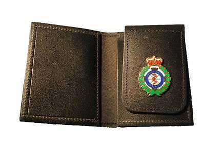 Ambulance Service Crown ID Card Holder Leather Wallet ( Small Badge)