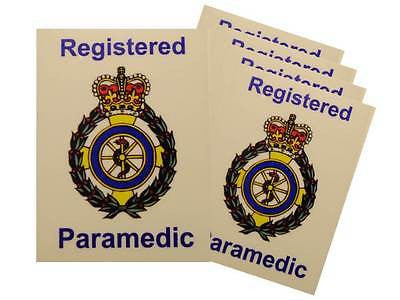 Ambulance Service Registered Paramedic Car Badges / Window Stickers