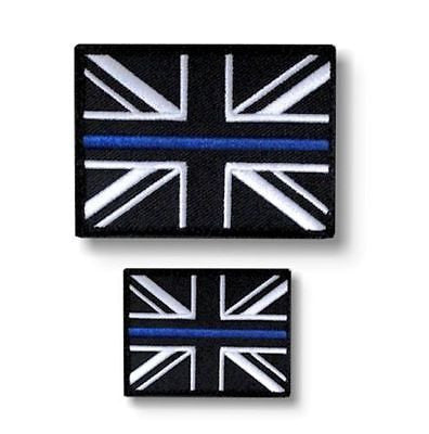 Thin Blue Line Police Union Jack Velcro Backed Patch