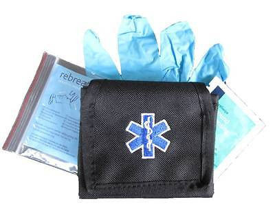 Embroidered Star of Life Glove Pouch inc CPR KIT