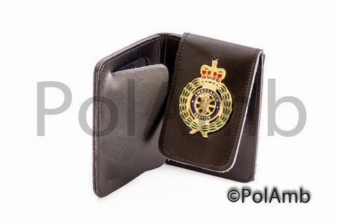 Ambulance Service Crown Leather ID Warrant Card Holder