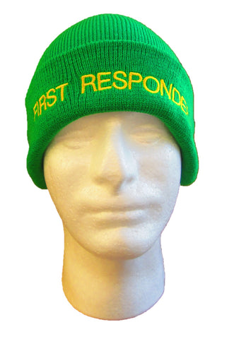 FIRST RESPONDER Beanie / Woolly Hat (Light Green)