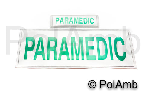 Paramedic Reflective Badge (MID Size Set)