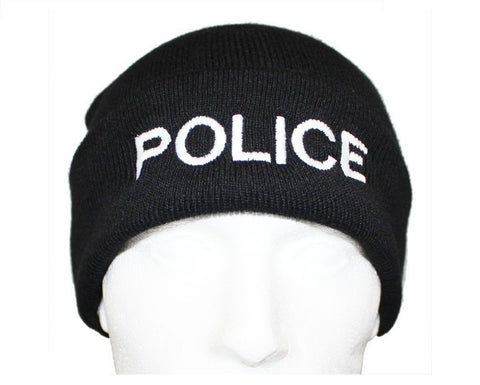 POLICE Beanie / Woolly Hat (BLACK)