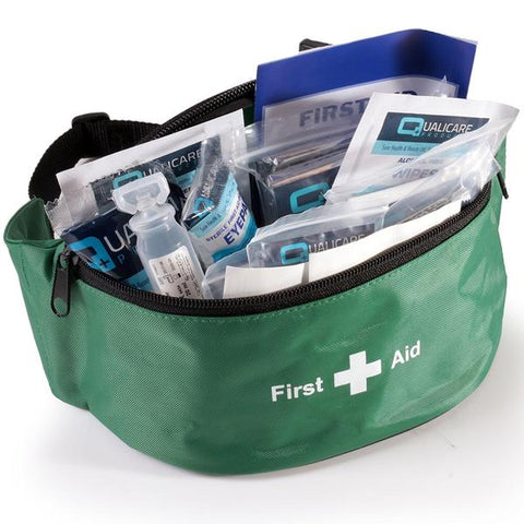 Green First Aid Bum Bag (KITTED)
