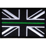 Thin Green Line Union Jack Velcro Backed Patch