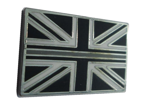 Thin Grey/Silver Line HM Prison Service Union Jack Tie Pin Lapel Badge