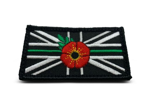 Thin Green Line & Remembrance Poppy Patch Badge