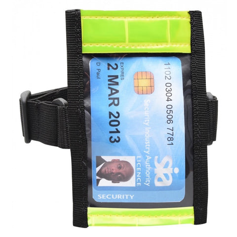 SIA ID Badge Arm Band Holder (Hi Vis)