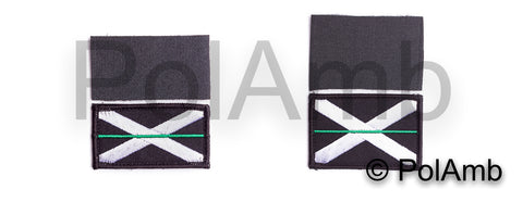 Thin Green Line Scottish Saltire Velcro Backed Patch