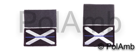 Thin Blue Line Scottish Scotland Police Union Jack Velcro Backed Patch