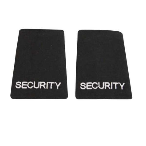 Black Embroidered SECURITY Slider Uniform Epaulettes