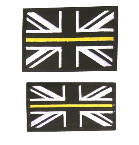 Thin Yellow Line Union Jack Velcro Backed Patch