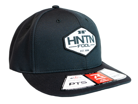 Black Fitted HNTN Patch Hat