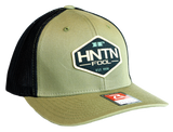 Loden & Black Fitted HNTN Patch Hat