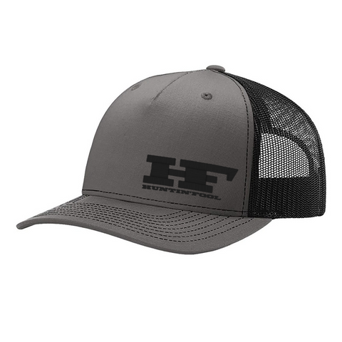 Charcoal & Black Embroidered HF 5-Panel Hat