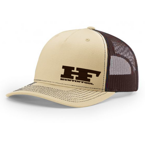 Khaki & Coffee Embroidered HF 5-Panel Hat