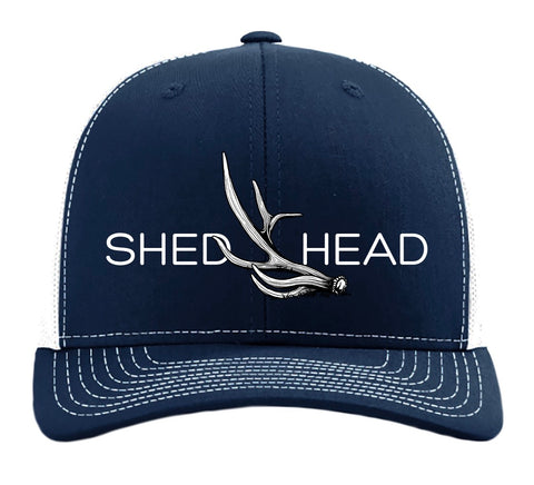Shed Head Navy & White Elk Hat
