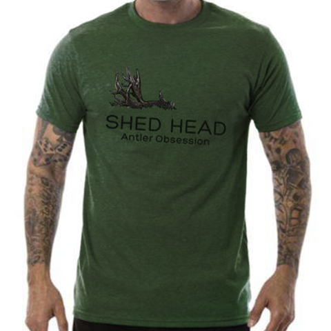 Shed Head 1 Antler Green Deer Shirt