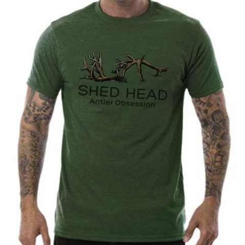 Shed Head Logo Green Shirt