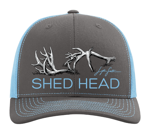 Shed Head Charcoal & Columbia Blue Hat