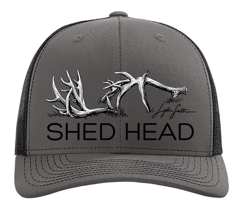 Shed Head Charcoal & Black Hat