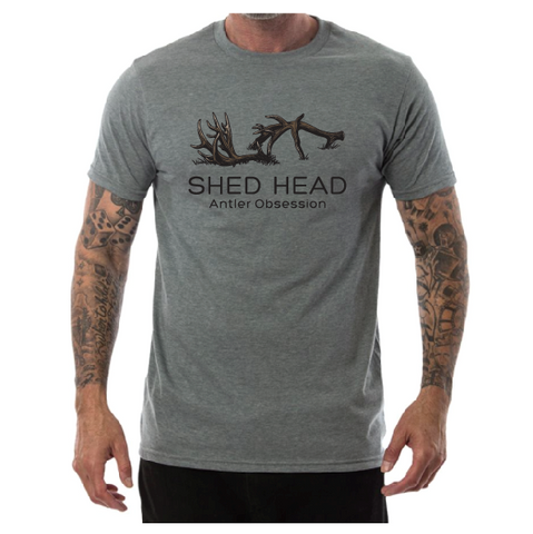 Shed Head Logo Gray Shirt