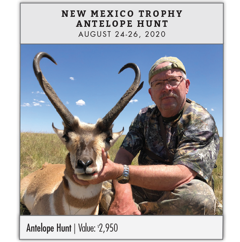 Silver Prize: New Mexico Trophy Antelope Hunt