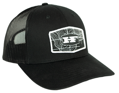 Black Topo Patch Hat