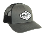 Charcoal and Black HNTN Patch Hat