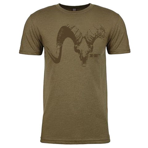 Military Green Sheep Skull Shirt