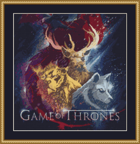 View Game Of Thrones Cross Stitch Kit Background
