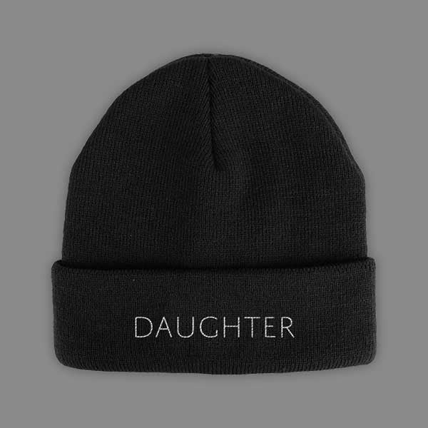 DAUGHTER LOGO BLACK BEANIE