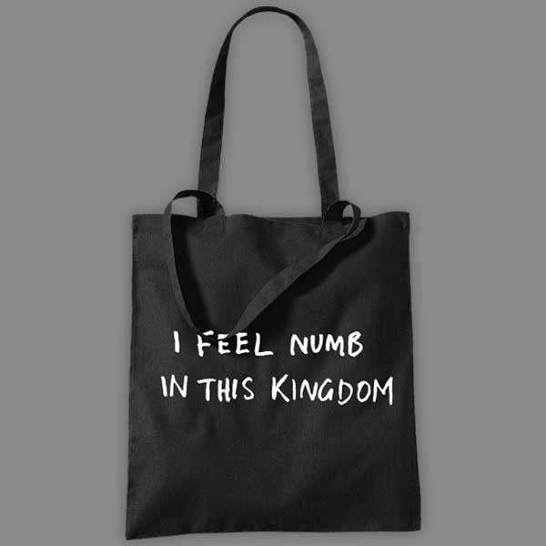 I FEEL NUMB BLACK TOTE BAG