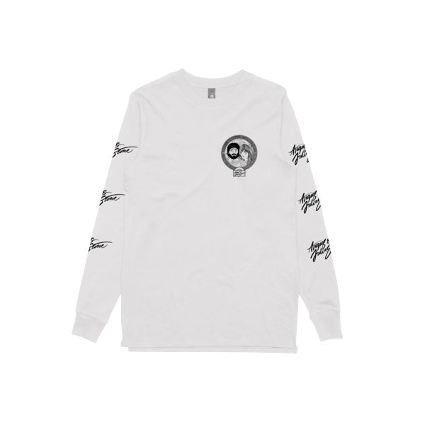 Cartoon / White Longsleeve T-shirt