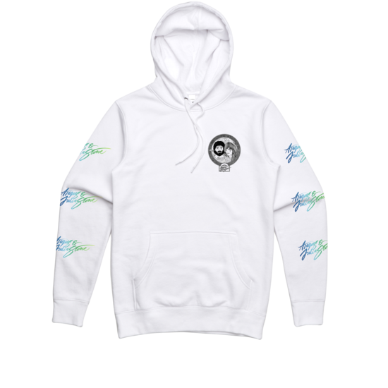 Cartoon / White Hoody