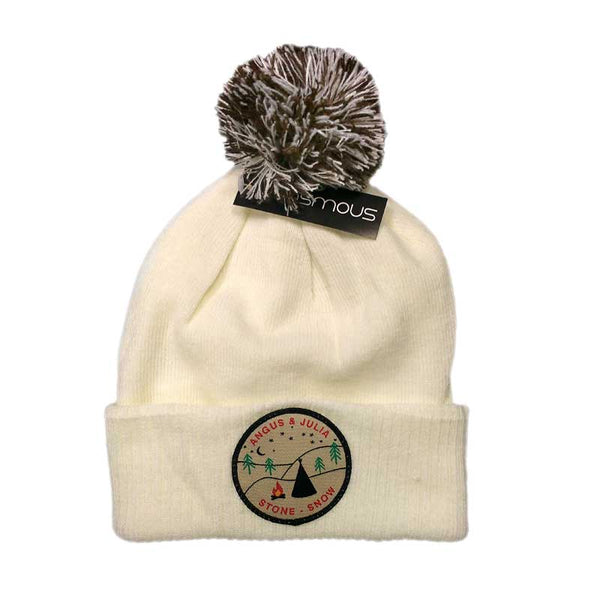 SNOW MOUNTAIN / OFF WHITE BEANIE