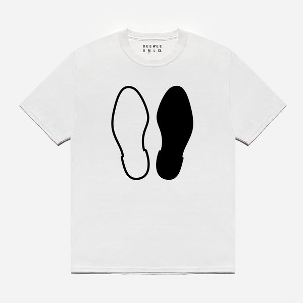 DEEWEE FEET WHITE T-SHIRT