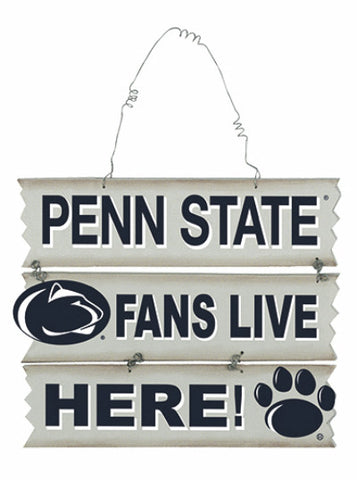 """Penn State Fans Live Here"" Ladder Sign"