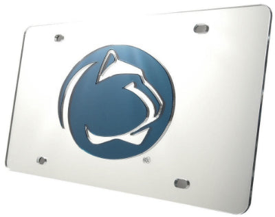 Penn State Bright White Logo License Plate - Metal
