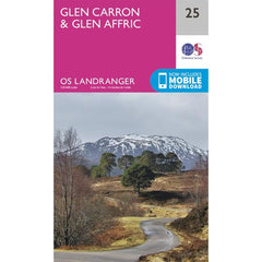 Glen Carron & Glen Afrin Map