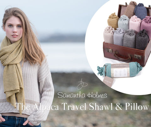 Alpaca Travel Shawls by Samantha Holmes, perfect gifts for travellers.