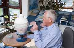 David Grant at work at Highland Stoneware