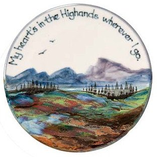 My Heart's in the Highlands Plate Highland Stoneware