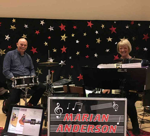 Marian Anderson & Max Ketchin playing at Christmas Dance