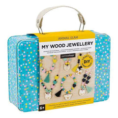 Petit Collage My Wood Jewellery Kit in Suitcase
